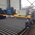 dobbeltdrift gantry cnc plasma skjæremaskin som kutter massivt stål / t bjelke produksjonslinje